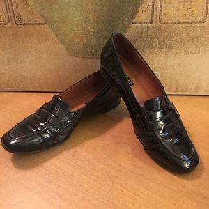 Paul Green Black Patent Leather Loafers 5-1/2